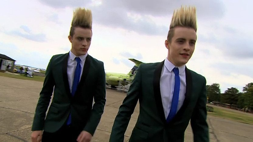John and Edward at Duxford airfield