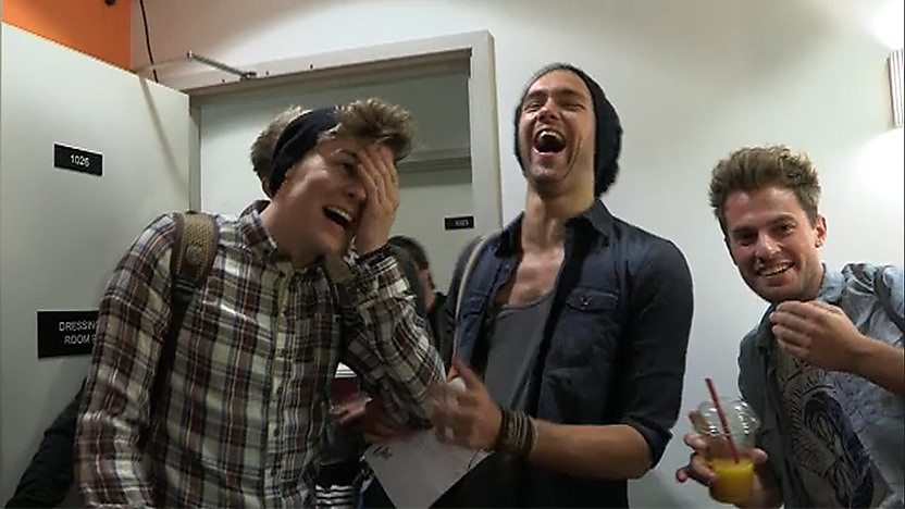 Lawson in their dressing room