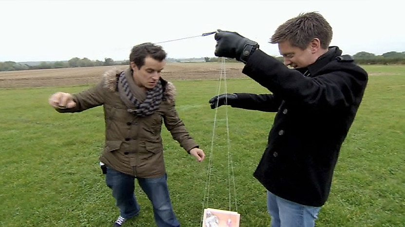 Dick and Dom with a weather balloon