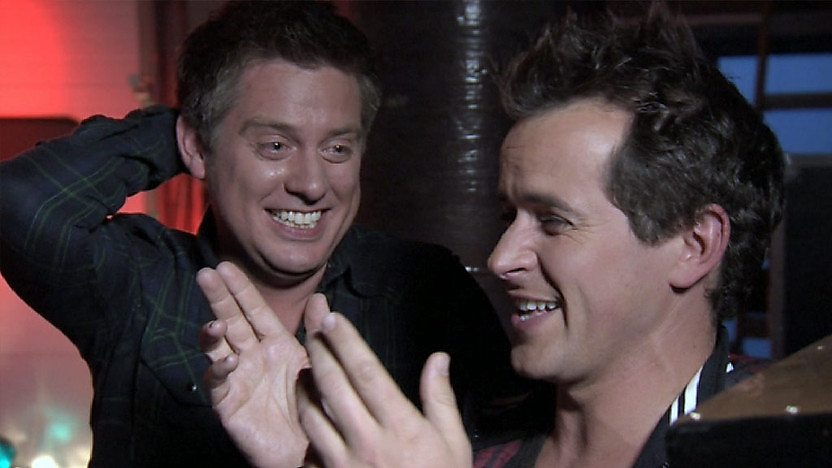 Dick and Dom laughing