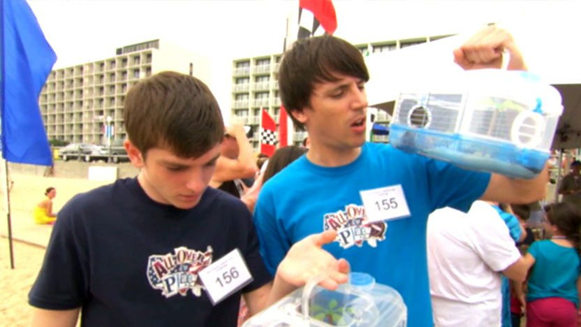 Ed and Richard with their hermit crabs