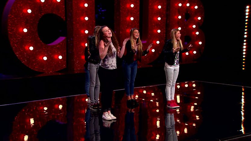 The Sweets perform on Comic Relief does Glee Club