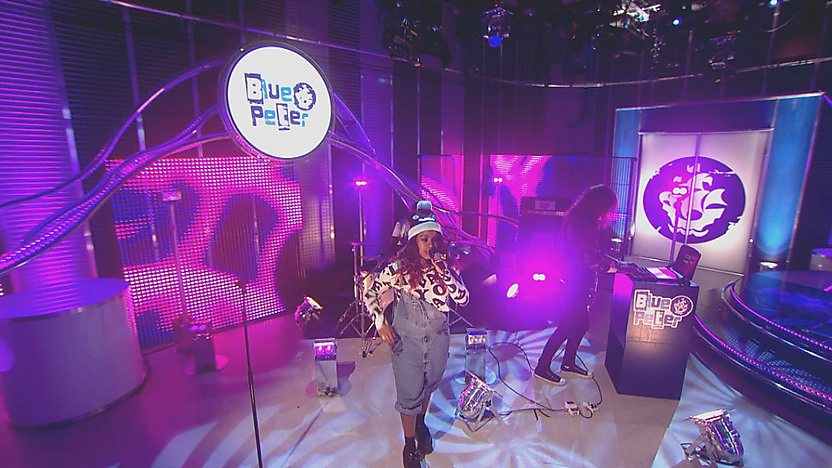 Mischa B in the Blue Peter Studio
