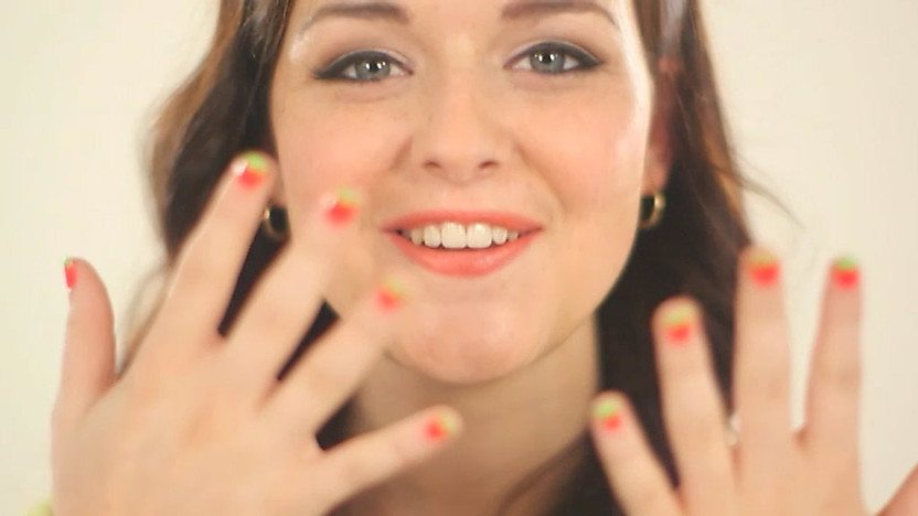 Shannon Flynn with painted nails.