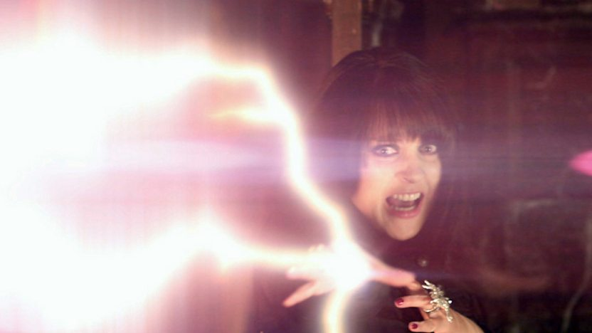Ingrid firing lightning from her hand