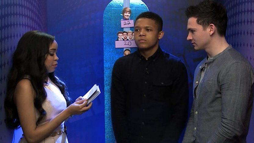 Dionne with Percy and Scott from Wizards vs Aliens