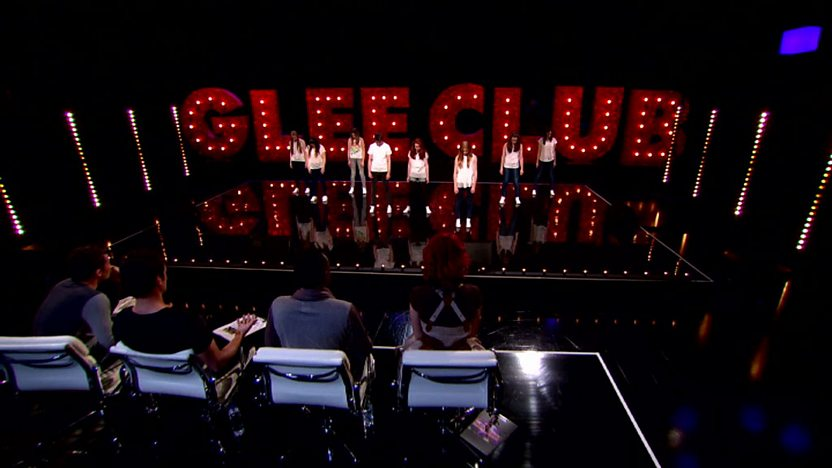 Active8 perform on Comic Relief Does Glee Club