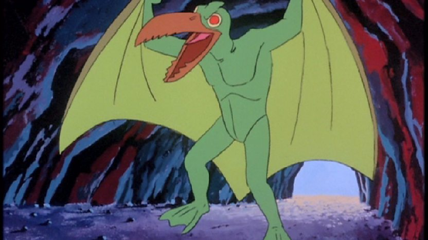 A green pterodacty