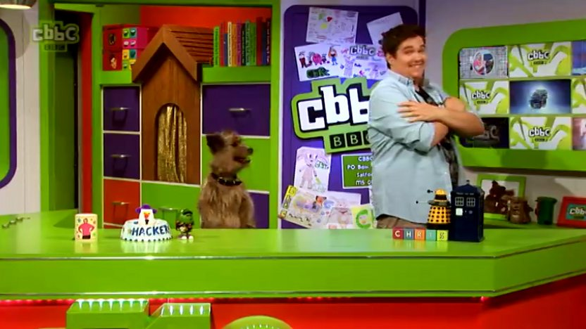 Hacker and Chris in the CBBC Office