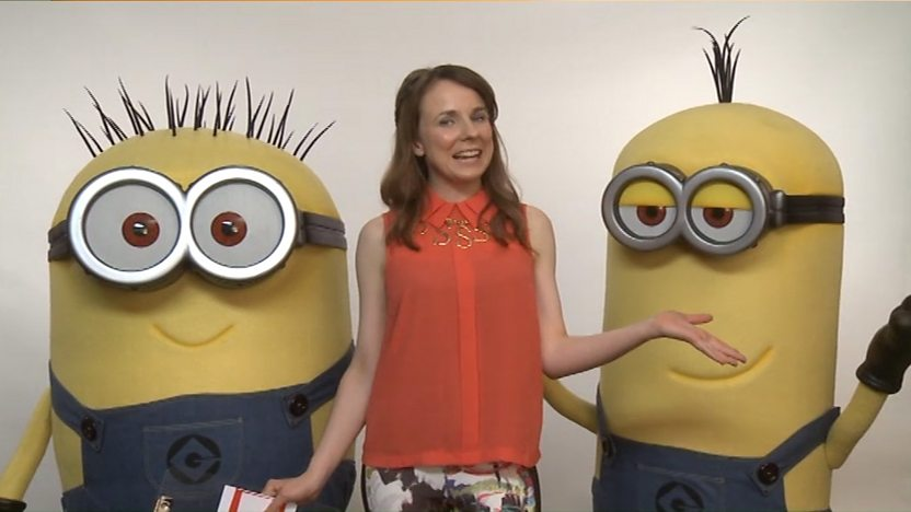 Stacey May Anaïs and two minions.