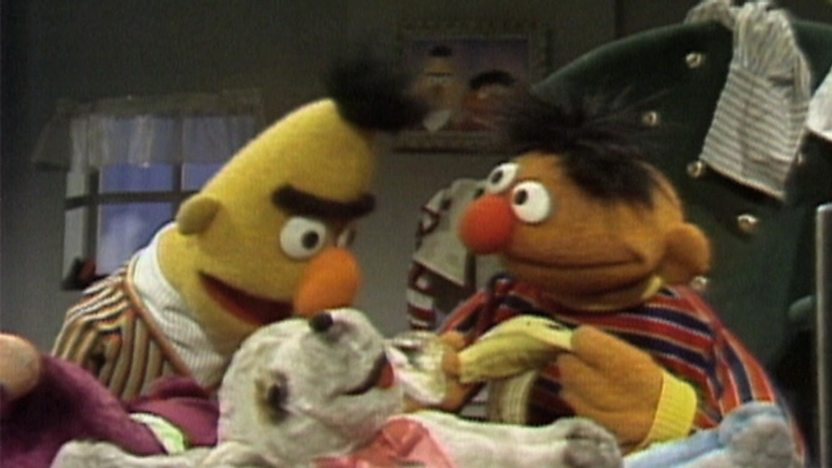 Bert and Ernie from Sesame Street.