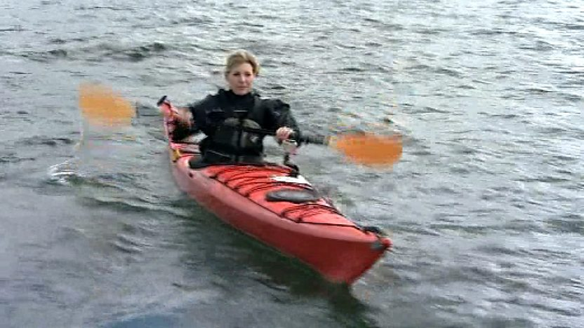 Naomi kayaking