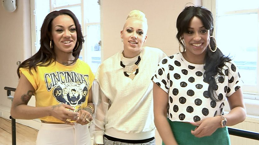 Karis, Courtney and Alexandra from girl band Stooshe