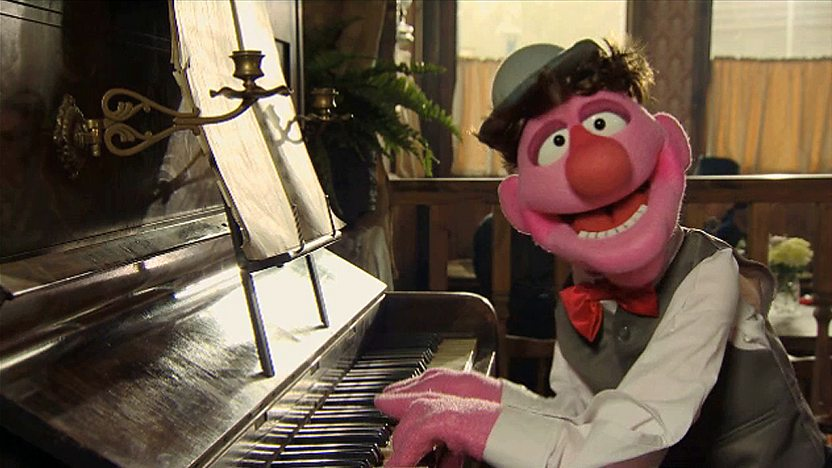 Puppet playing the piano