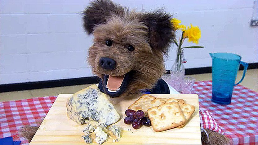 Josh with a cheeseboard
