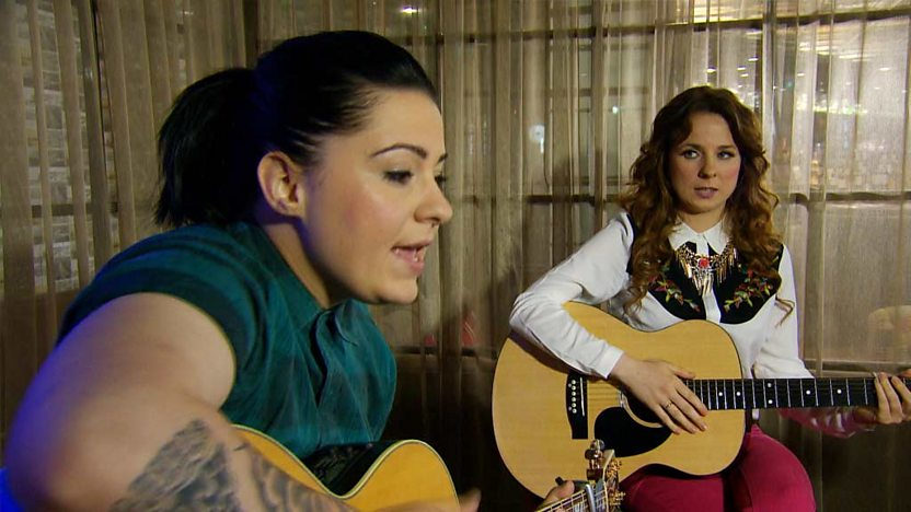 Lucy Spraggan with Stacey-May Anaïs.