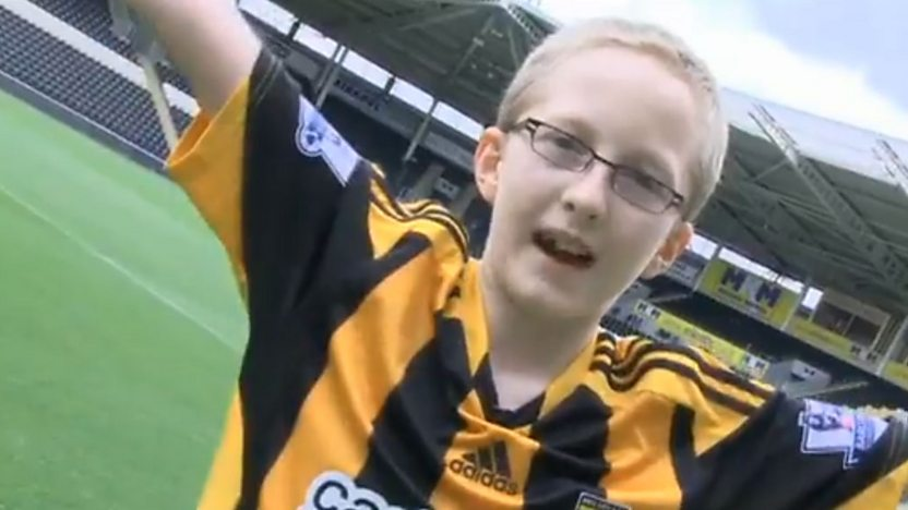 Thomas, a Hull city Tigers fan.