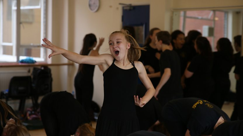 A pupil from The Italia Conti Academy of Theatre and Arts dancing.