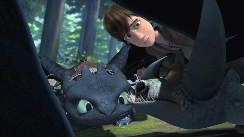 Toothless and Hiccup finding a dragon