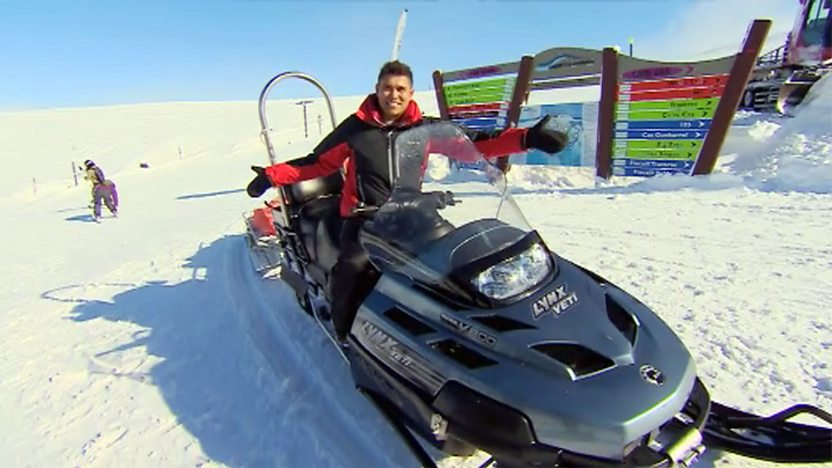 Rav on a ski doo