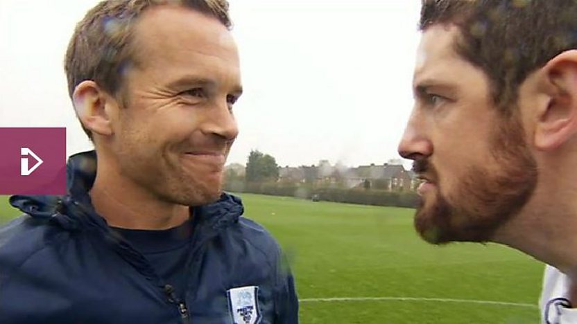 Kevin Davies meets WWE Star Wade Barratt