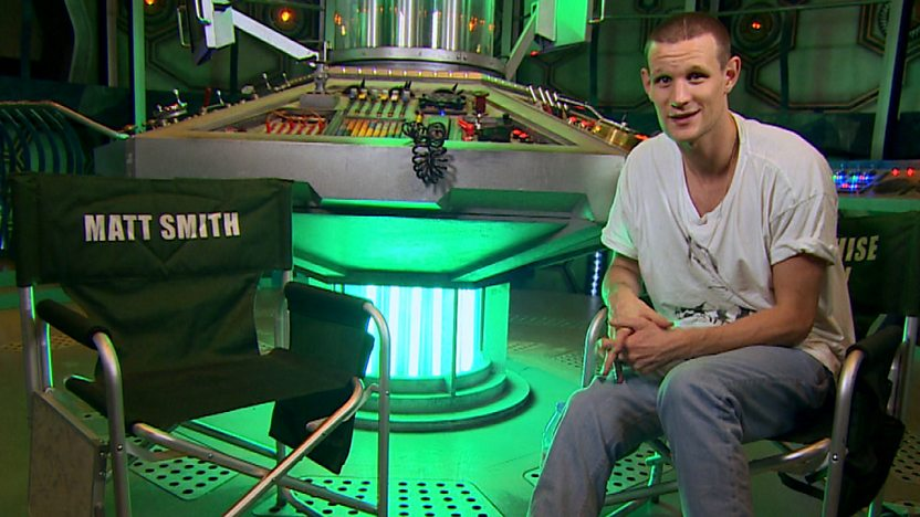 Matt Smith in the Tardis