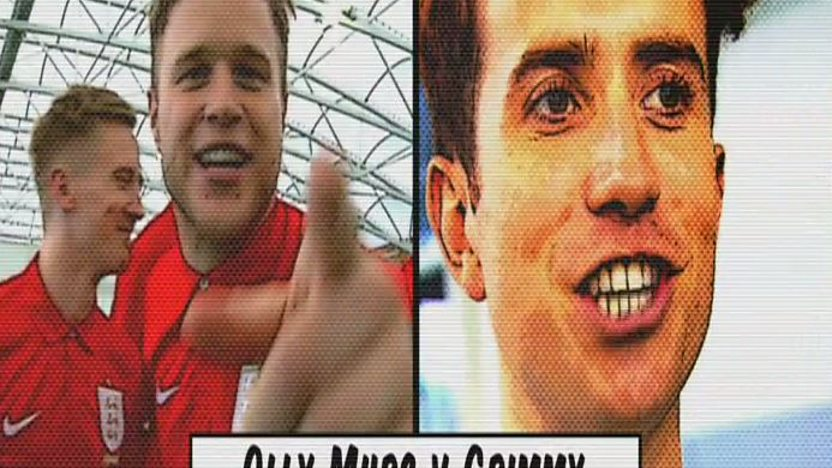 olly murs and Nick Grimshaw .