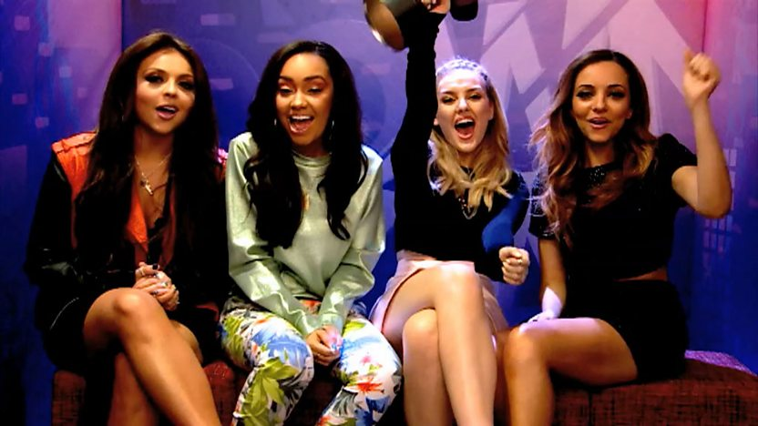 Little Mix with their Shoutout Download award