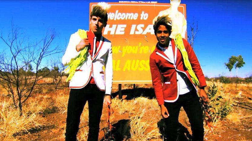 Ed and Johnny at Mount Isa