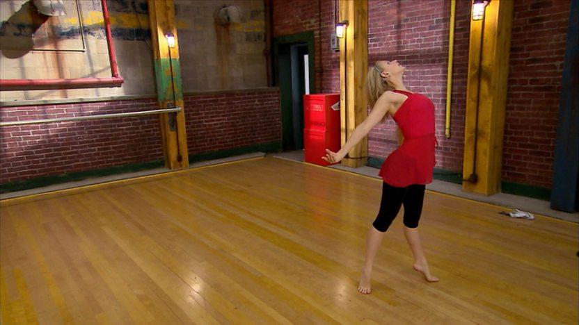 Emily dancing.