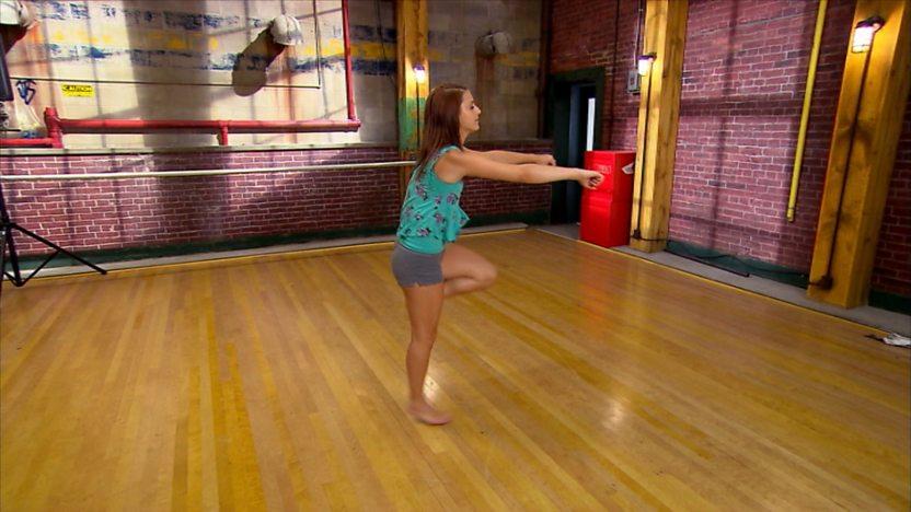 Chloe doing the shuffle.