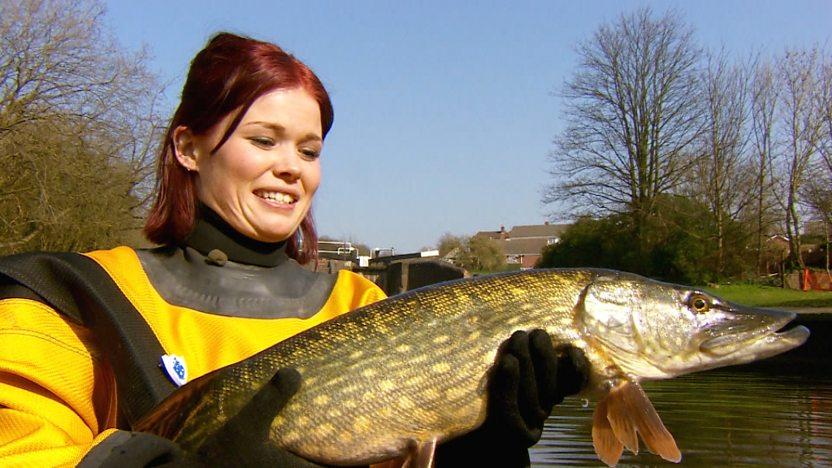 Lindsey holding fish