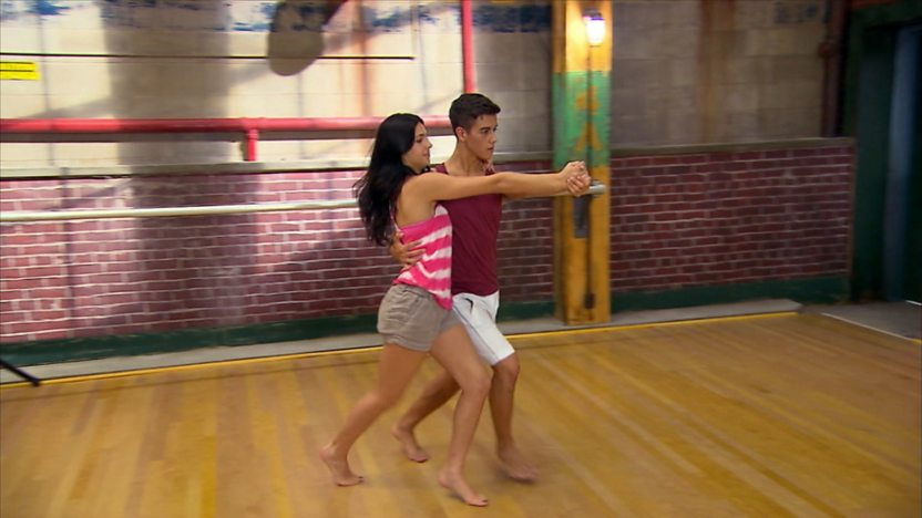 Chloe and Daniel dancing.