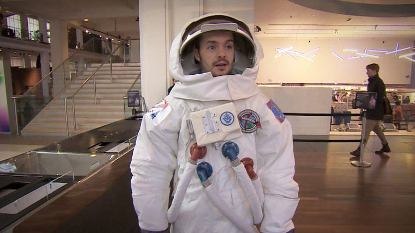 Barney Harwood as astronaut