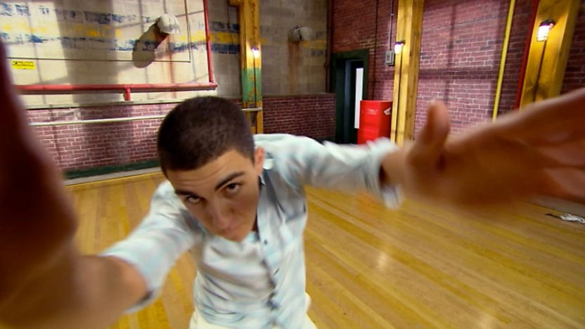 James from The Next Step doing the dance style, Krumping.