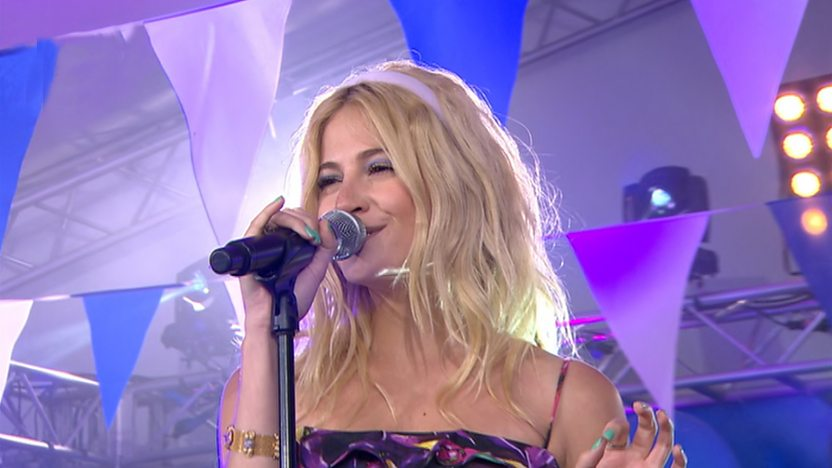 Pixie Lott performing at Live in NewcastleGateshead
