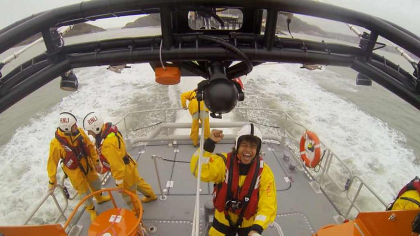 Radzi on lifeboat
