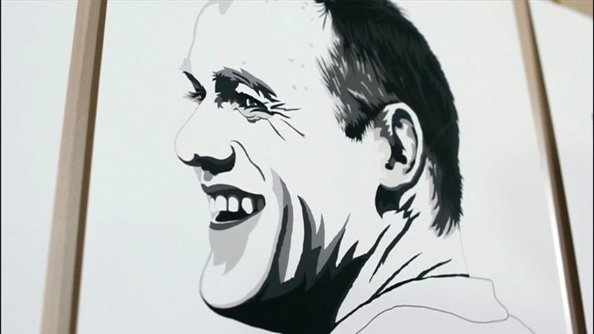 A portrait of Wayne Rooney.