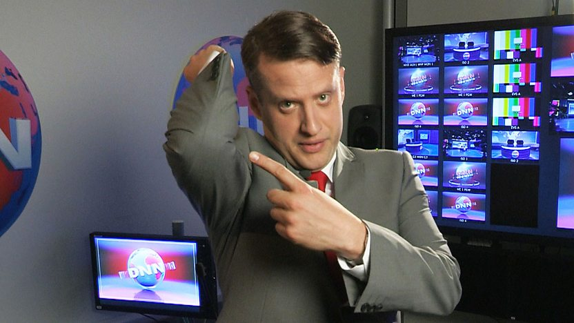 Bob Roberts from DNN, pointing to his elbow.