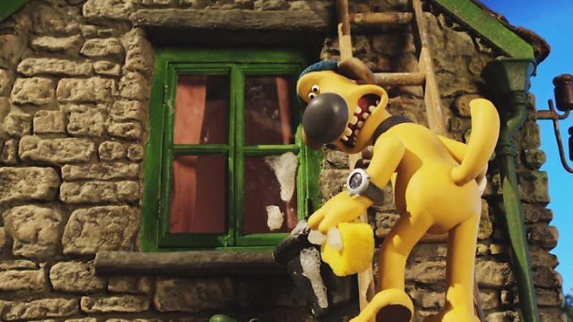 Bitzer the dog from Shaun the Sheep.
