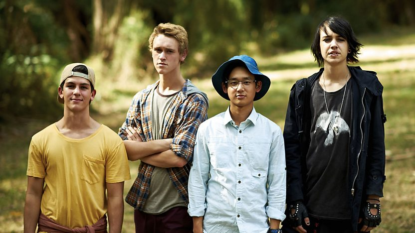 Sam, Jake, Andy and Felix from Nowhere Boys.