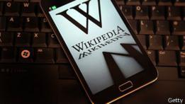 Wikipedia en teléfono