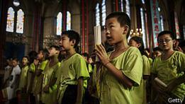 Niños chinos católicos
