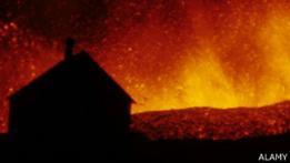 Erupción en Islandia.