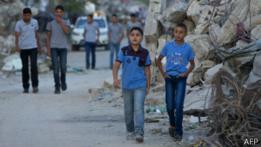 Niños en Shejaiya.