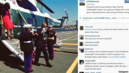 Captura de pantalla de la cuenta de la Casa Blanca en Instagram.