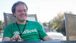 Isaac Dietrich, fundador de MassRoots y organizador del Marijuana Technology Startup Weekend