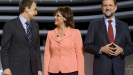 Debate entre Zapatero (izqda.) y Rajoy, en 2008.