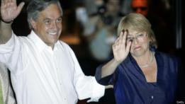 Piñera (izqda) y Bachellet.