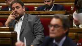 Oriol Junqueras y Artur Mas en el parlamento catalán